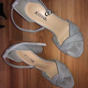 Like New Gray Heels